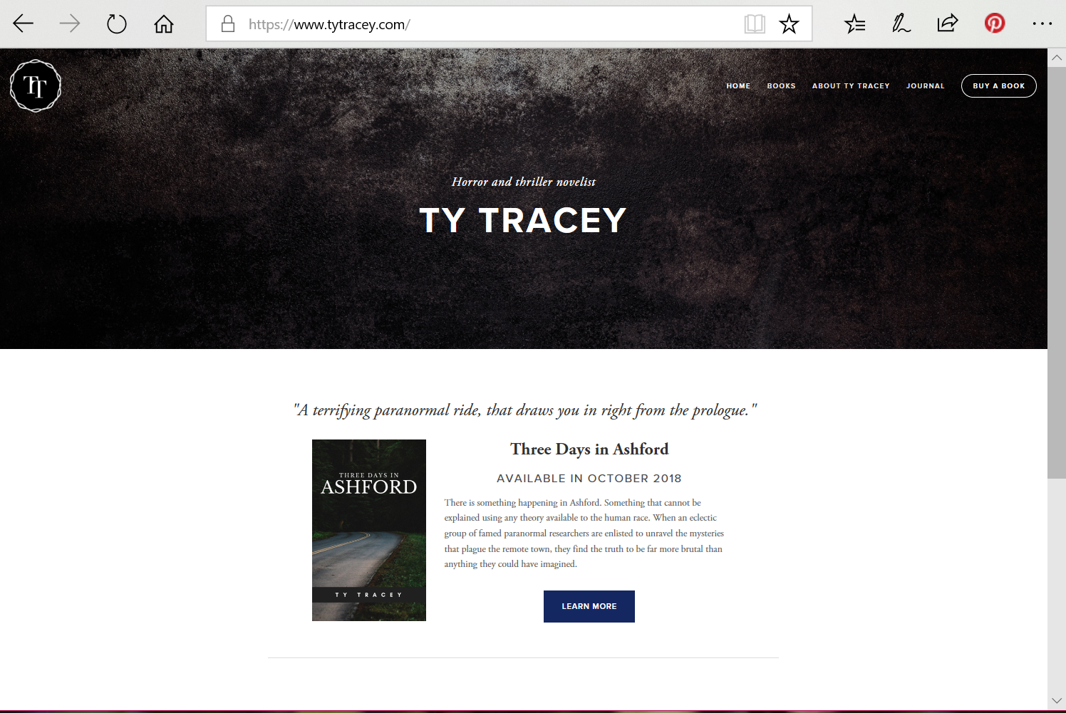 Ty Tracey - Author |  www.tytracey.com