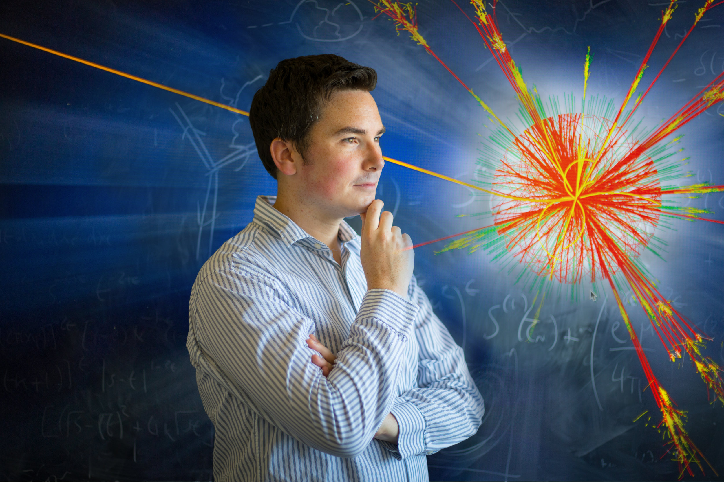 Assistant professor Ciaran Williams, physics, photographed in Fronczak Hall