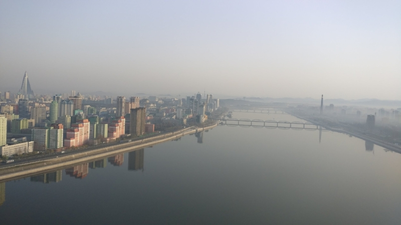 View of Pyonyang from my Hotel Window