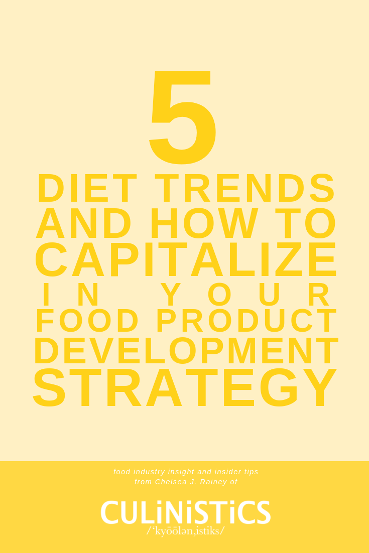 The 5 best diet trends shaping the food industry yin 2019 and how to capitalize in your food product development strategy