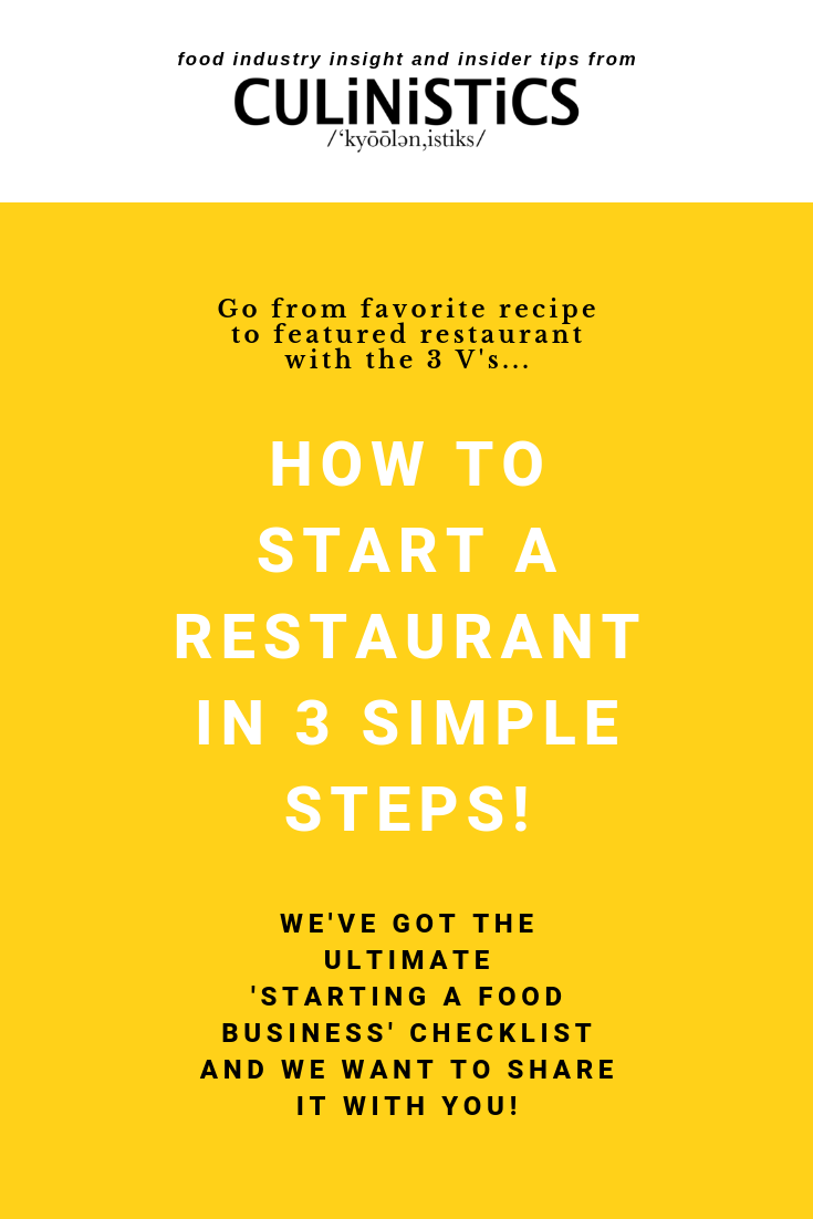 How to start a restaurant in 3 steps - the starting a food business checklist