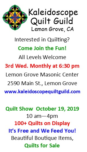 Kaleidoscope Quilt Guild - Sponsor: Second Place Prize for Wall Hanging