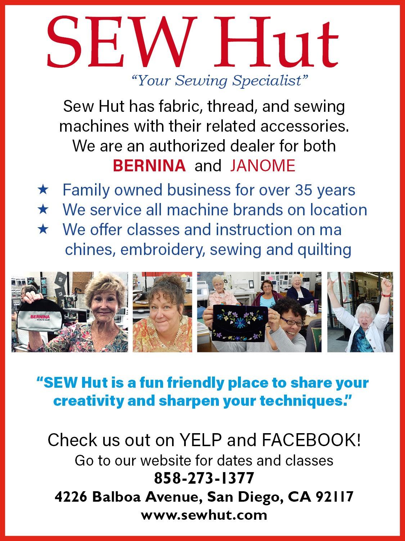 Sew Hut - Sponsor: Stationary Machine Quilting Award