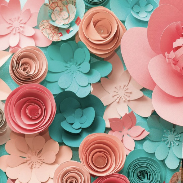 Paper Floral Coral