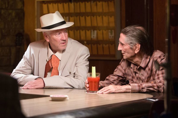 COURTESY OF THE LOCARNO FILM FESTIVAL  David Lynch and Harry Dean Stanton in a still from 'Lucky'