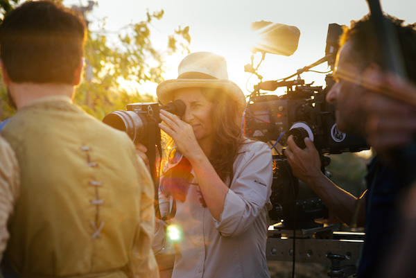 Lucrecia Martel on the set of 'Zama'