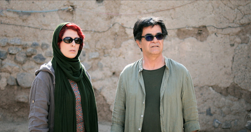 Actress Behnaz Jafari with filmmaker Jafar Panahi in a still from '3 Faces'