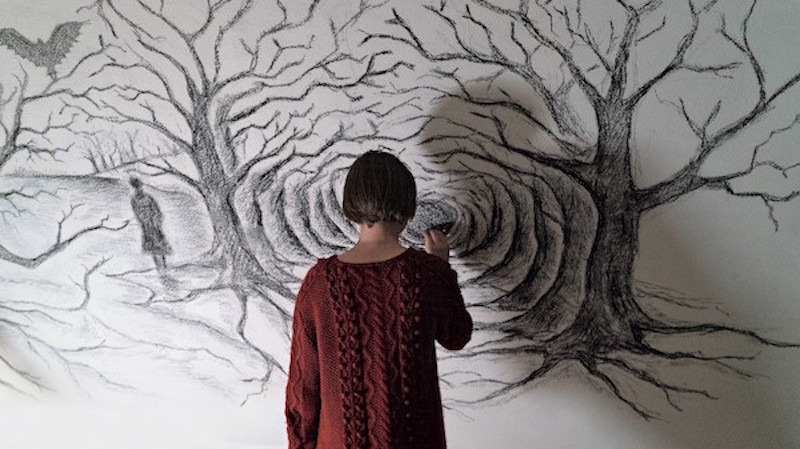 Julia Jedikowska in a still from 'Sicilian Ghost Story' by Antonio Piazza and Fabio Grassadonia
