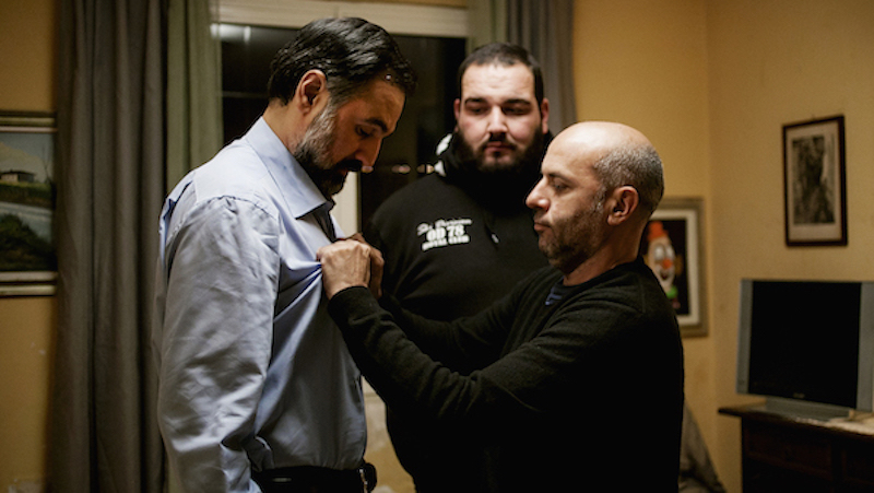 Vincenzo Marra, left, directing Mimmo Borrelli in 'Equilibrium'