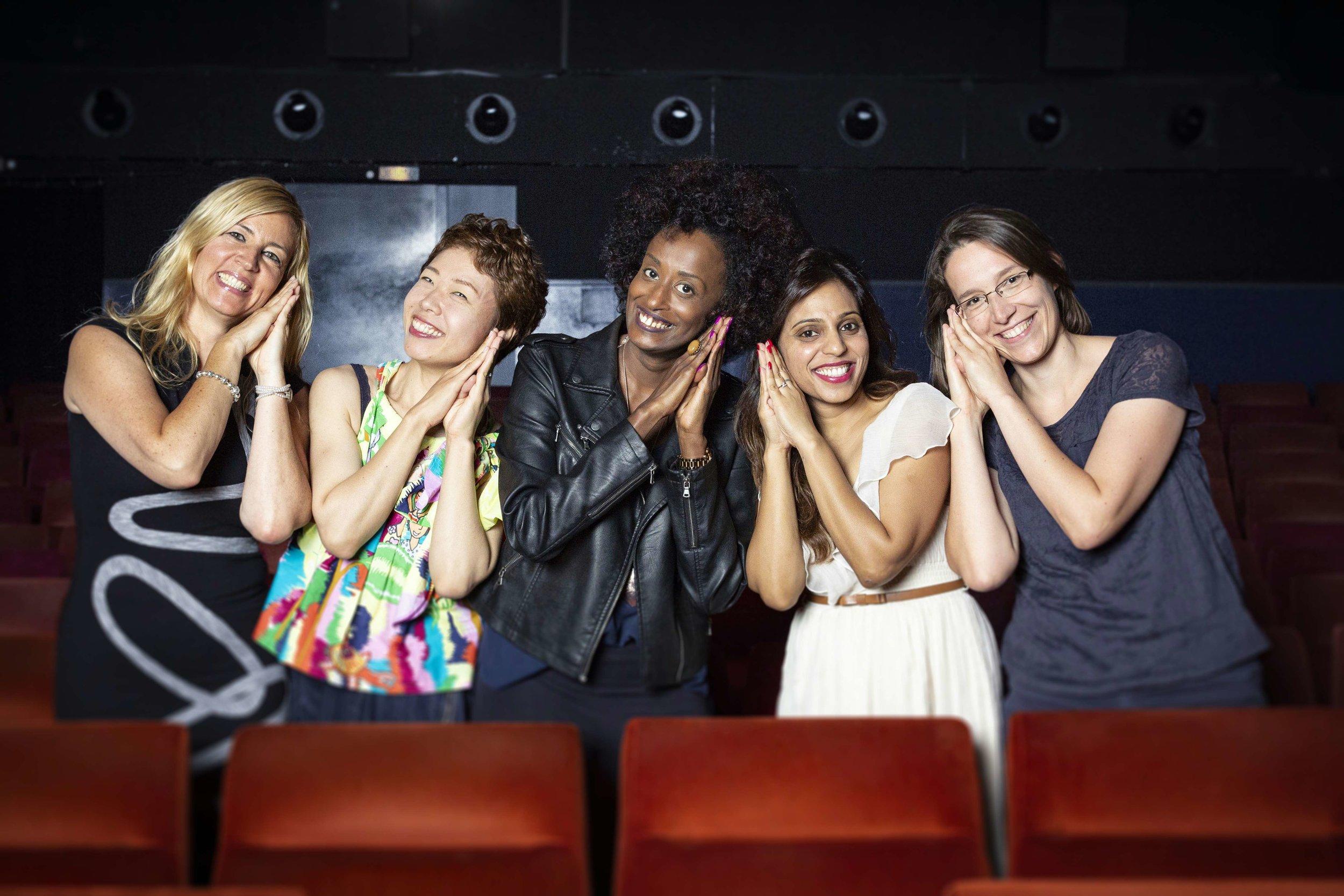 From left Deborah Feldmann,Rokudenashiko, Leyla Hussein, Vithika Yadav and Doris Wagner