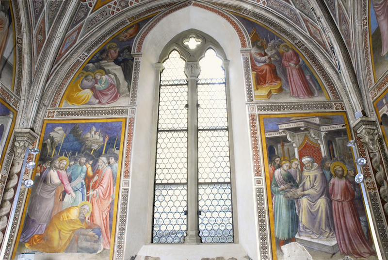 Frescoes by Mariotto di Nardo, inside the Santa Maria Novella shop in Florence