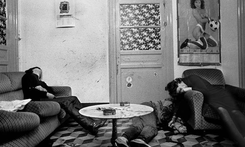 The scene of a gruesome murder, photograph by Letizia Battaglia