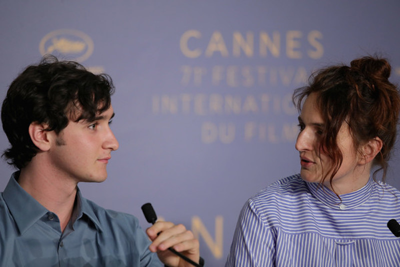 Adriano Tardiolo with Rohrwacher at the Festival de Cannes, where 'Lazzaro Felice' won Best Screenplay