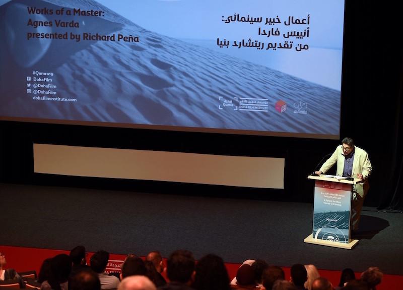 Richard Peña conducts a masterclass honoring the work of Agnès Varda at this year's Qumra