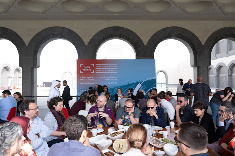 A working breakfast during Qumra 2019