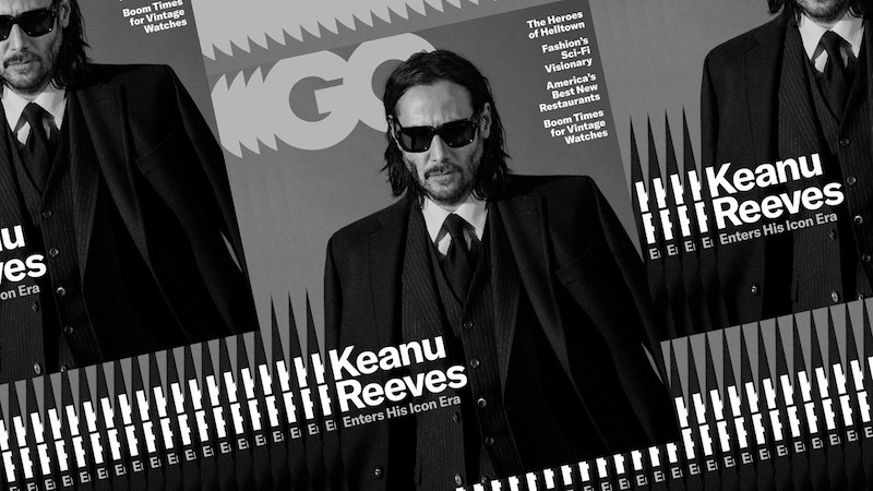 Keanu Reeves on the cover of GQ May 2019 issue