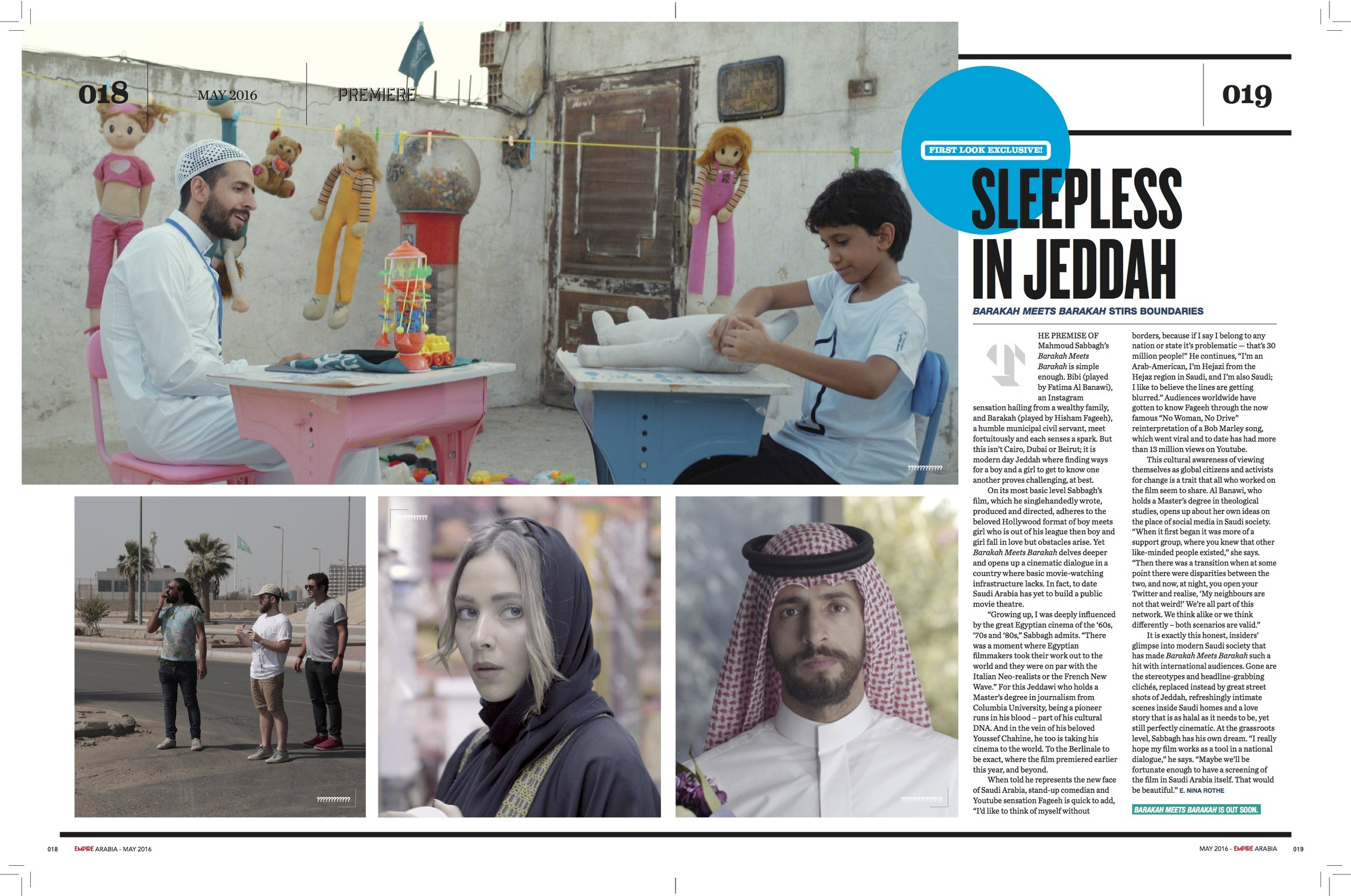 My feature on 'Barakah Meets Barakah' in Empire Arabia's May 2016 issue
