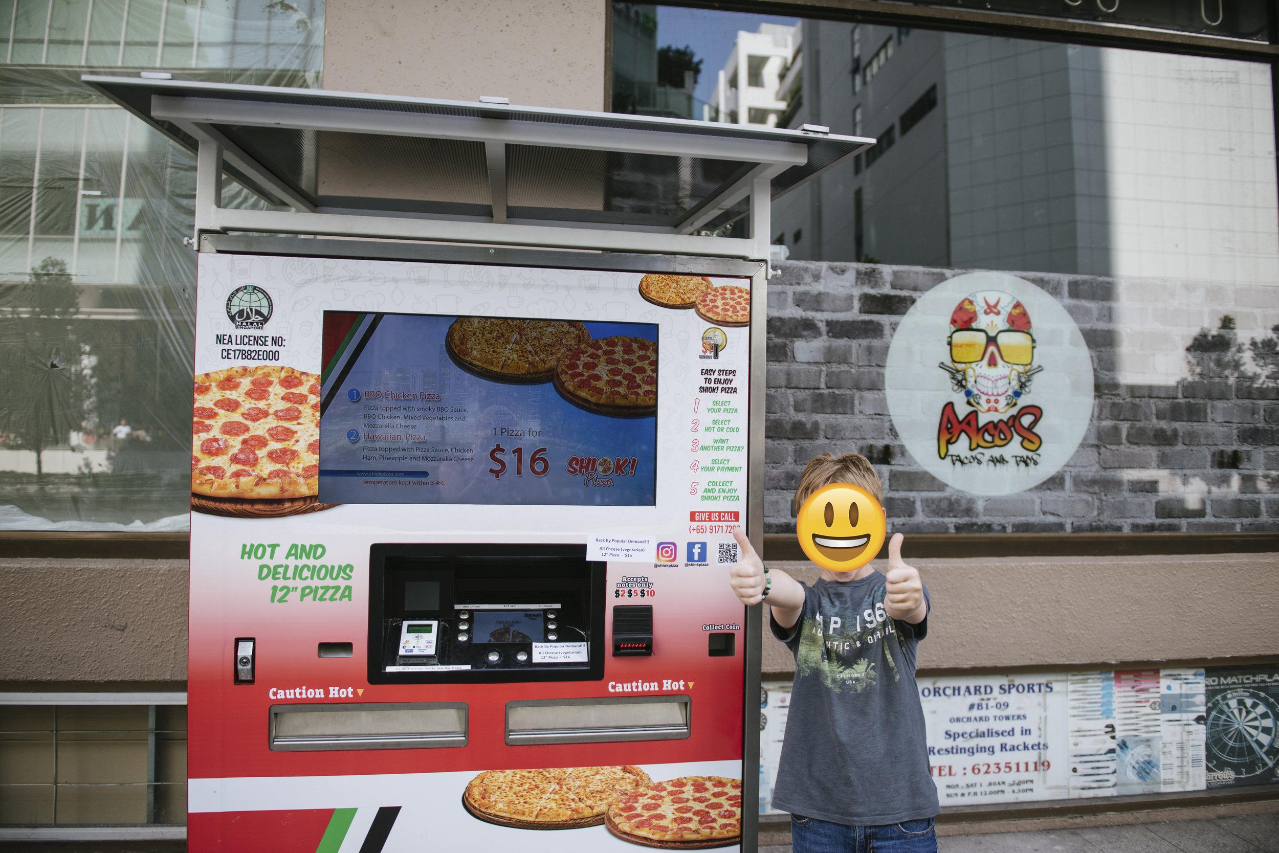 Happy Pizza loving Boy