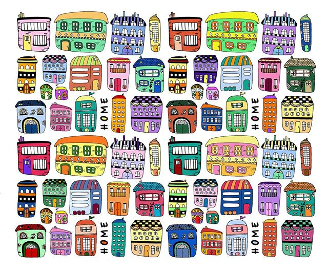Home sweet colourful many different homes 🏠 Repeat pattern now available on Society6 and Spoonflower. #imagesbycassandra_designs #cassandraoleary #pattern #surfacedesigner #patterndesign #surfacedesign #wallpaper #interiordesign #overallprint #surfacepatterns #fabric #textiledesign #patternlove #repeatpattern #illustrator #illustration #textiledesigner #letsmakeart #textiledesign #surfacepatternprint #surfacepatterndesign #designsforfabric #society6 #spoonflower