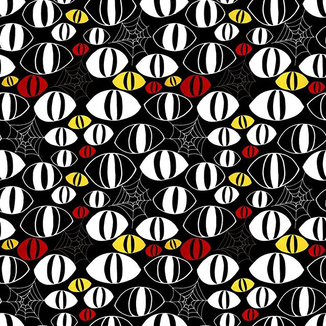 Happy Halloween 👀 #imagesbycassandra_designs #cassandraoleary #pattern #surfacedesigner #patterndesign #surfacedesign #wallpaper #interiordesign #overallprint #surfacepatterns #fabric #textiledesign #patternlove #repeatpattern #illustrator #illustration #textiledesigner #letsmakeart #textiledesign #surfacepatternprint #surfacepatterndesign #designsforfabric #society6 #spoonflower