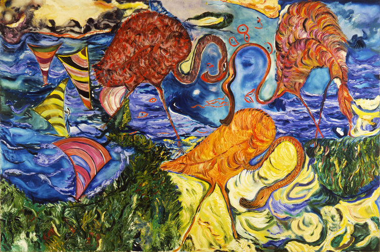 "Ocean Night, 1985    Oil on Canvas 56"" x 84""    Private Collection, São Paulo,Brazil"
