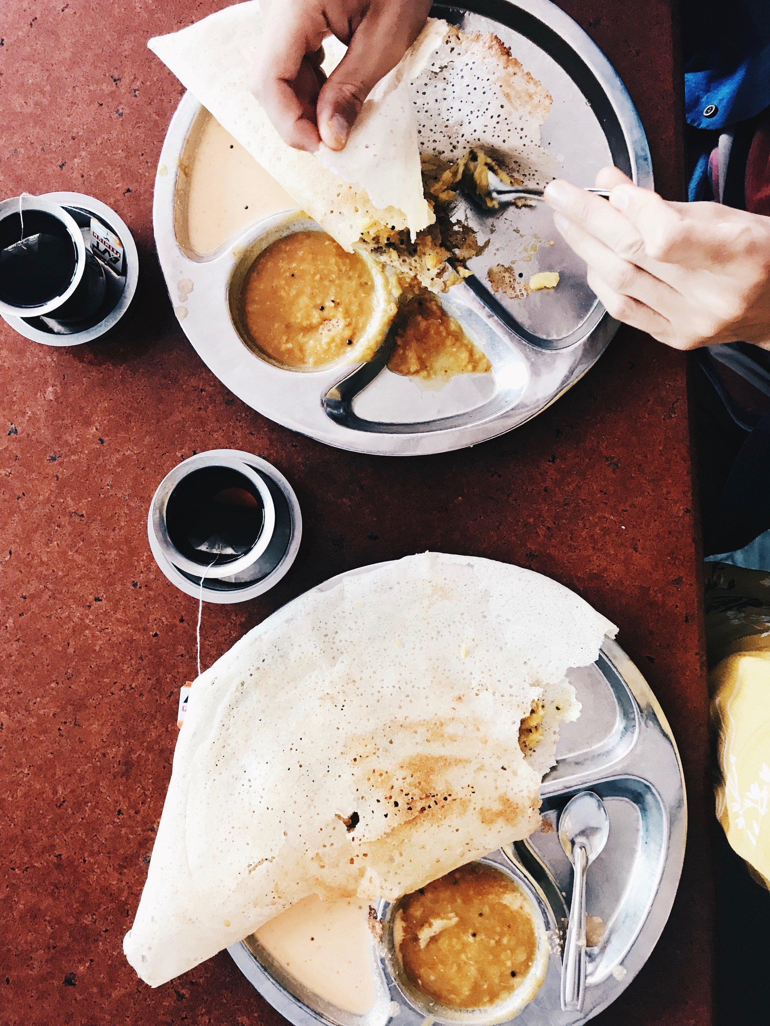 Masala Dosa at Sri Krishna Cafe - Mattancherry