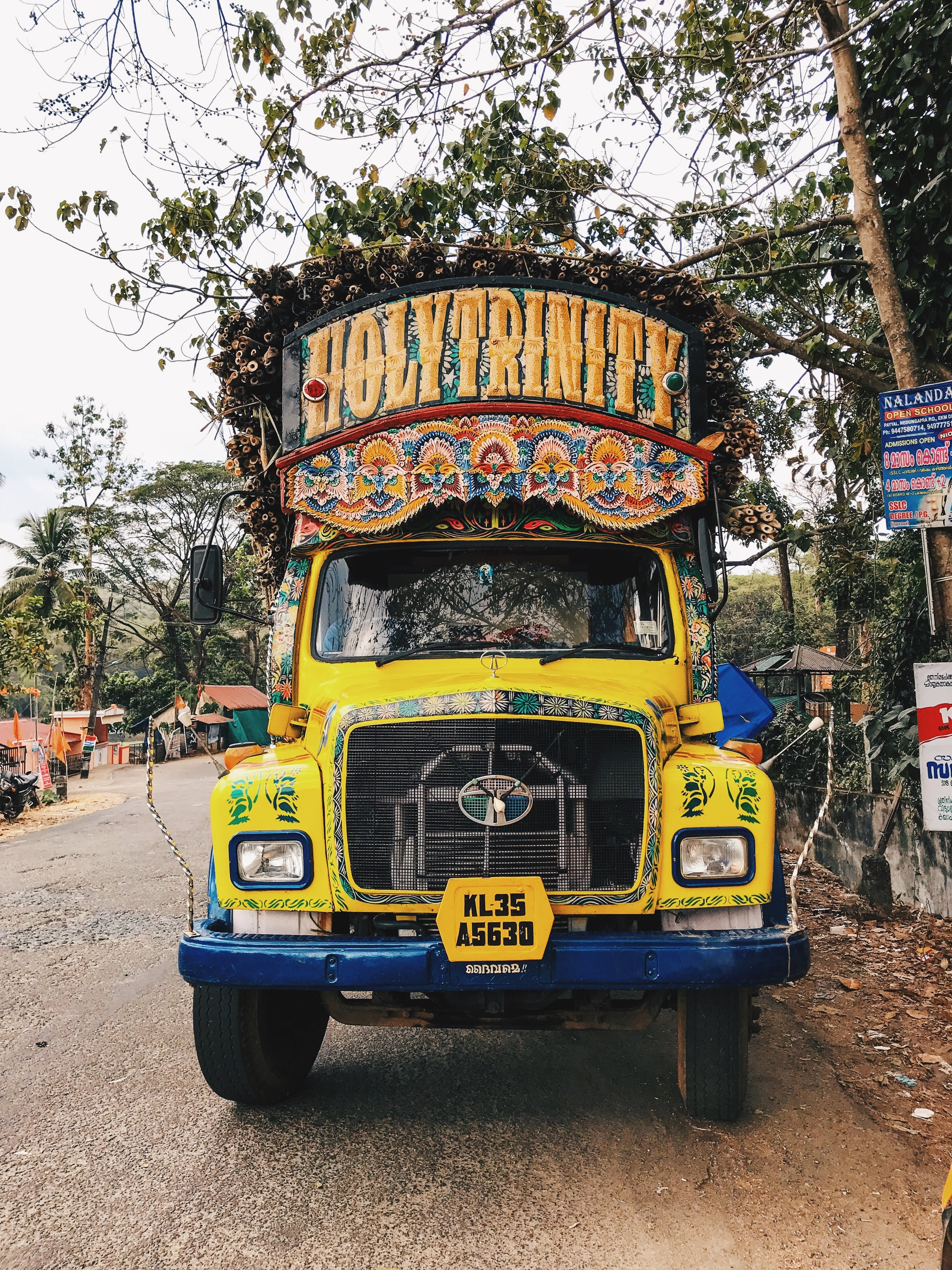 Spotted this beauty of a truck, parked right outside the sanctuary. It was overloaded with bamboo.