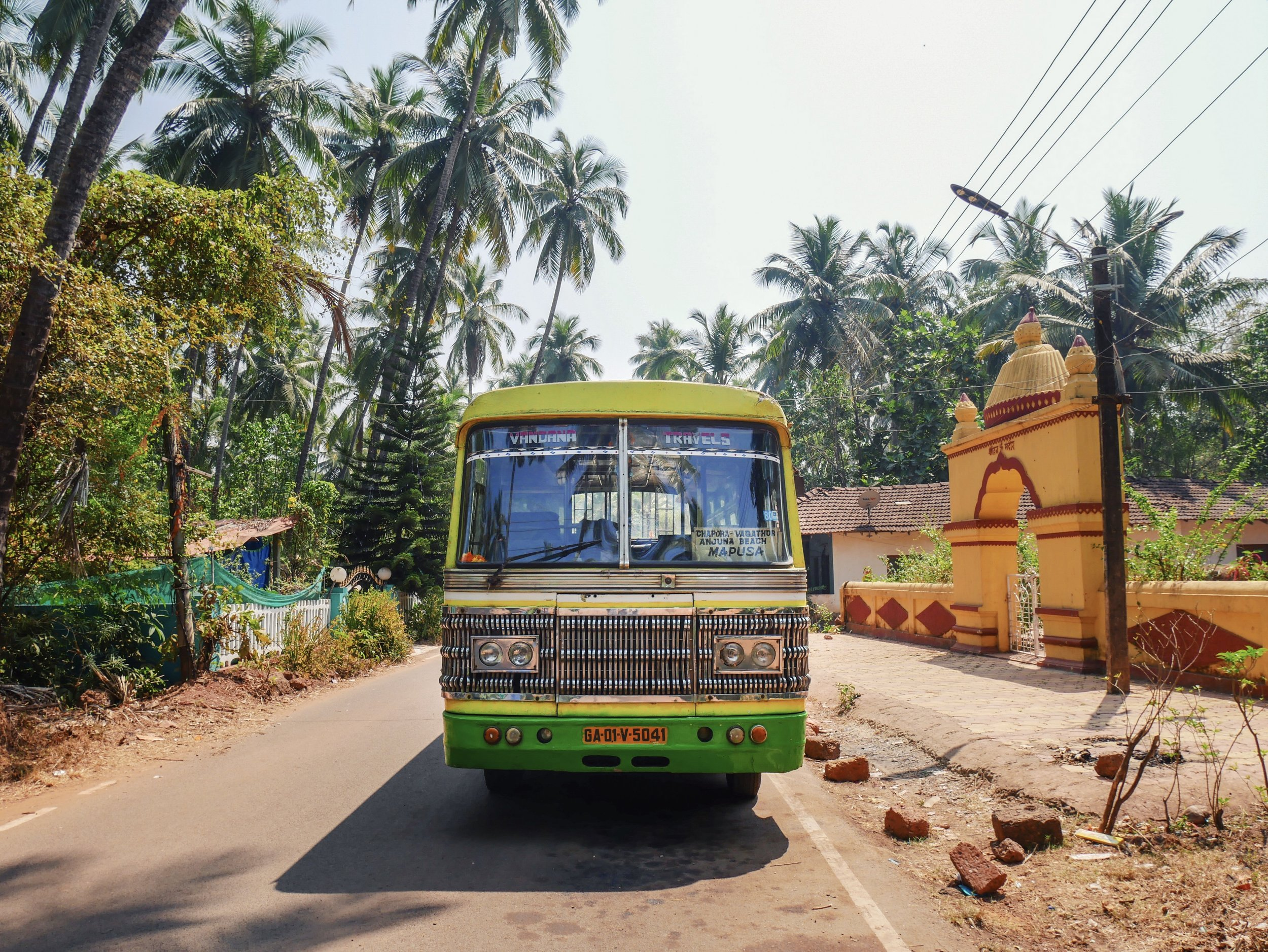 A bus spotted in Goa