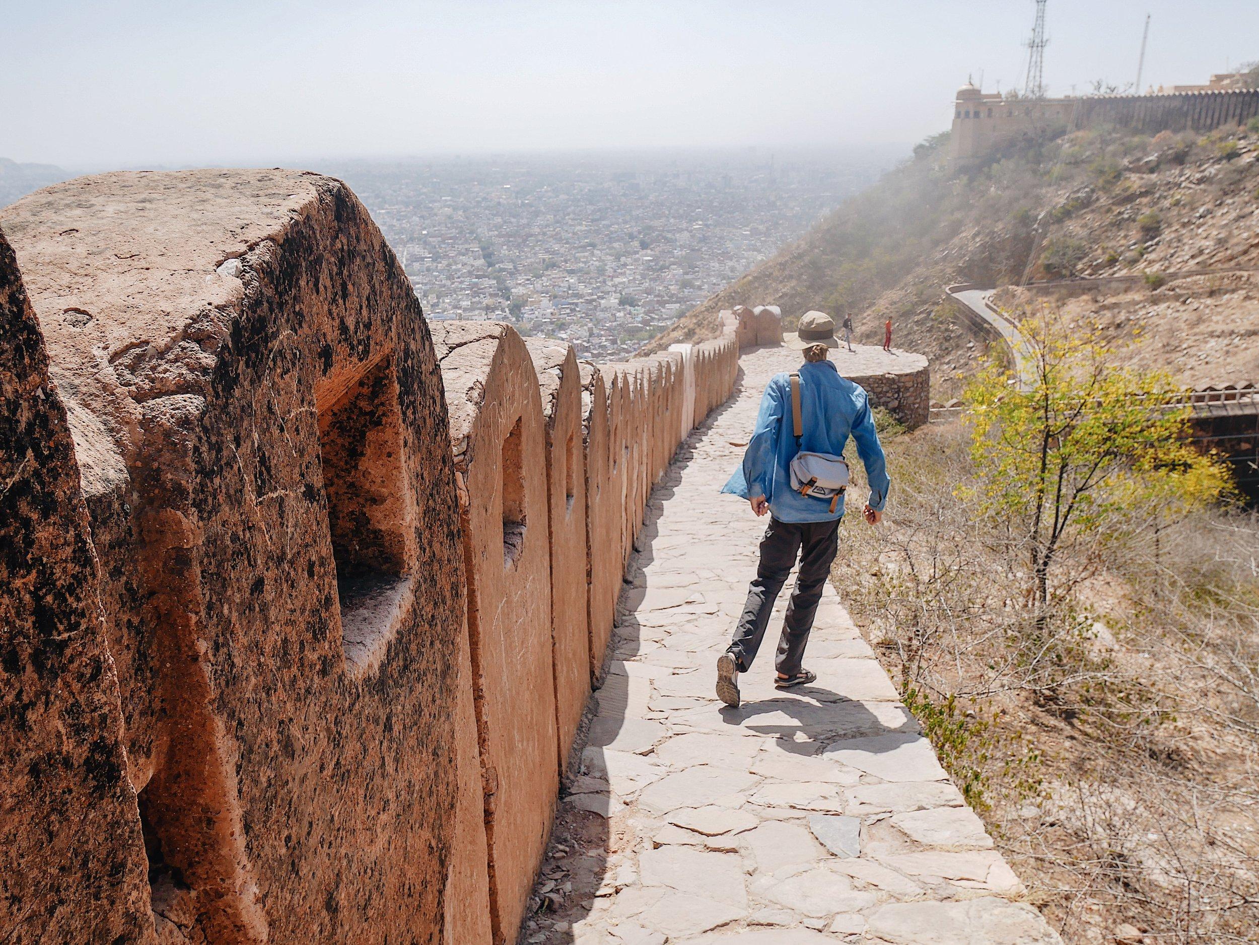 Running around Nahargarh Fort