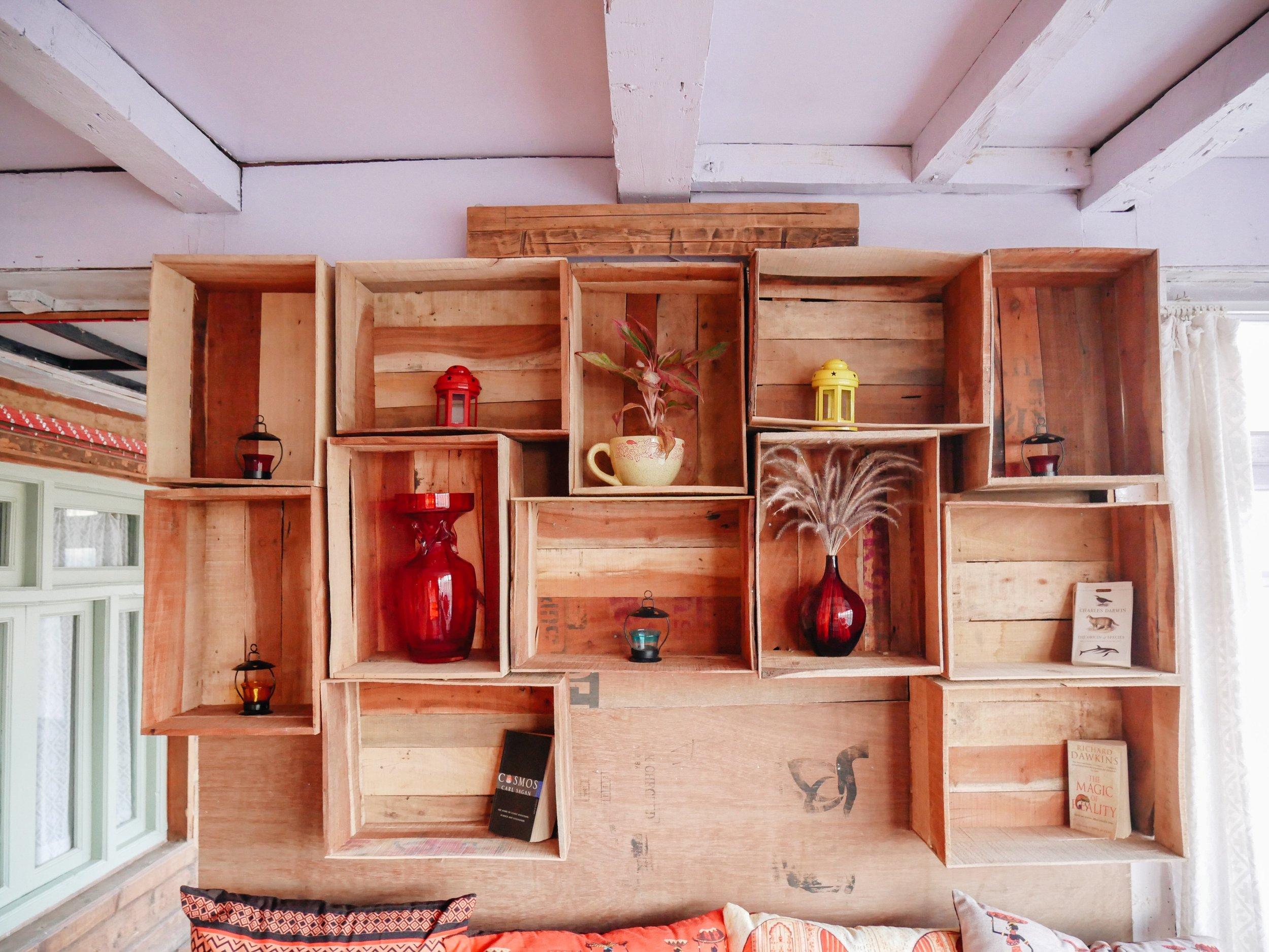 Loved the little shelves!