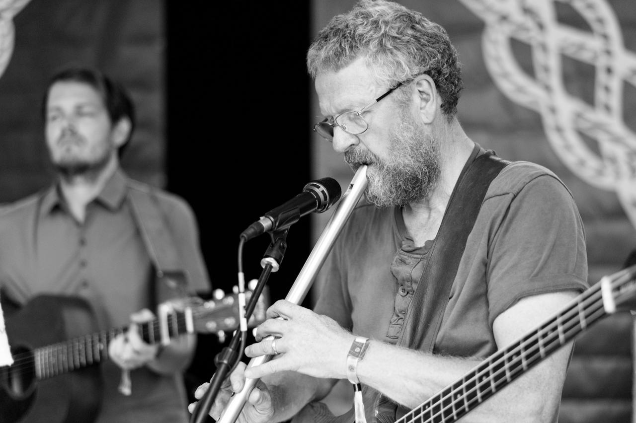 Neal Jolly - Neal has spent a lifetime making music in many different genres, but the constant has been folk music in its many forms. He moved from Yorkshire to Cornwall in 2016 and quickly became involved in the vibrant music scene around Wadebridge and currently is involved in the new jazz/blues quartet, Melange, indie folk-rock group, The Grenaways, and leading a regular community singing group as well as playing with The Rowan Tree. He plays various types of bass (upright, electric, acoustic) and whistles of many different sizes. Never a purist, he sees excitement and opportunity when music finds itself able to merge from one genre to another creating a new fusion.