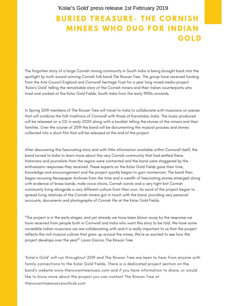 Kolar's Gold Press Release.png
