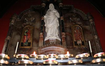 Sacred Heart side altar at St Paul's