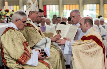 Ordination of Fr Dominic Risley in 2016 in the archdiocese (taken from Catholic Pic website)