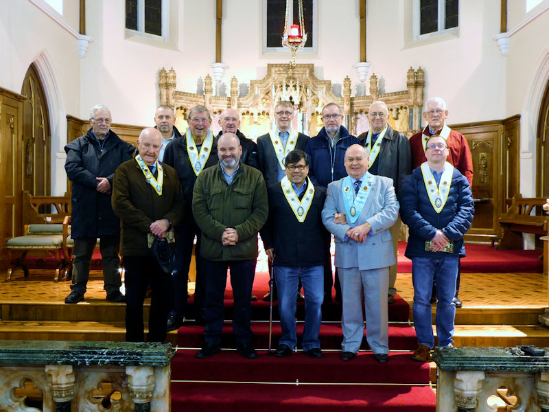 On 14th November 2018 the Knights of St Columba remembered their deceased KSC colleagues at their annual memorial Mass at St Paul's Church. They were joined by the Provincial Grand Knight, Bro Ray Pealing (in grey suit on front row) who after the Mass joined them at their monthly meeting in the Parish Centre.