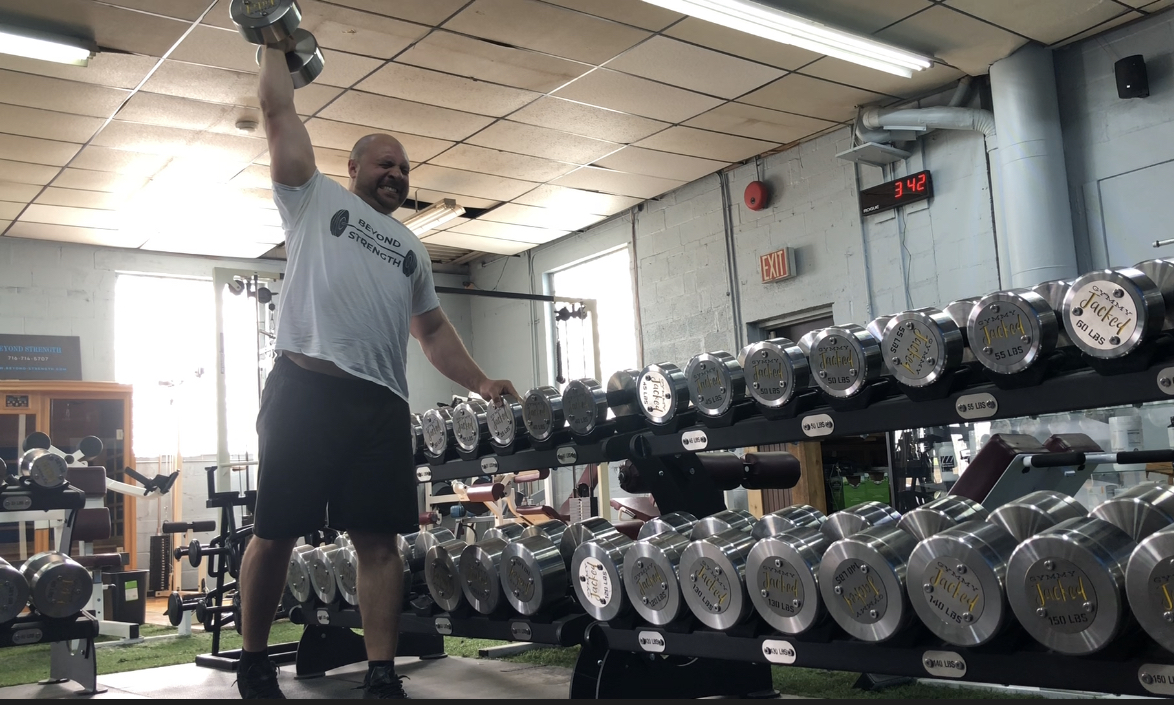 I am currently training for the Strongman competition on July 20th at the Eat Rite Sports Expo.