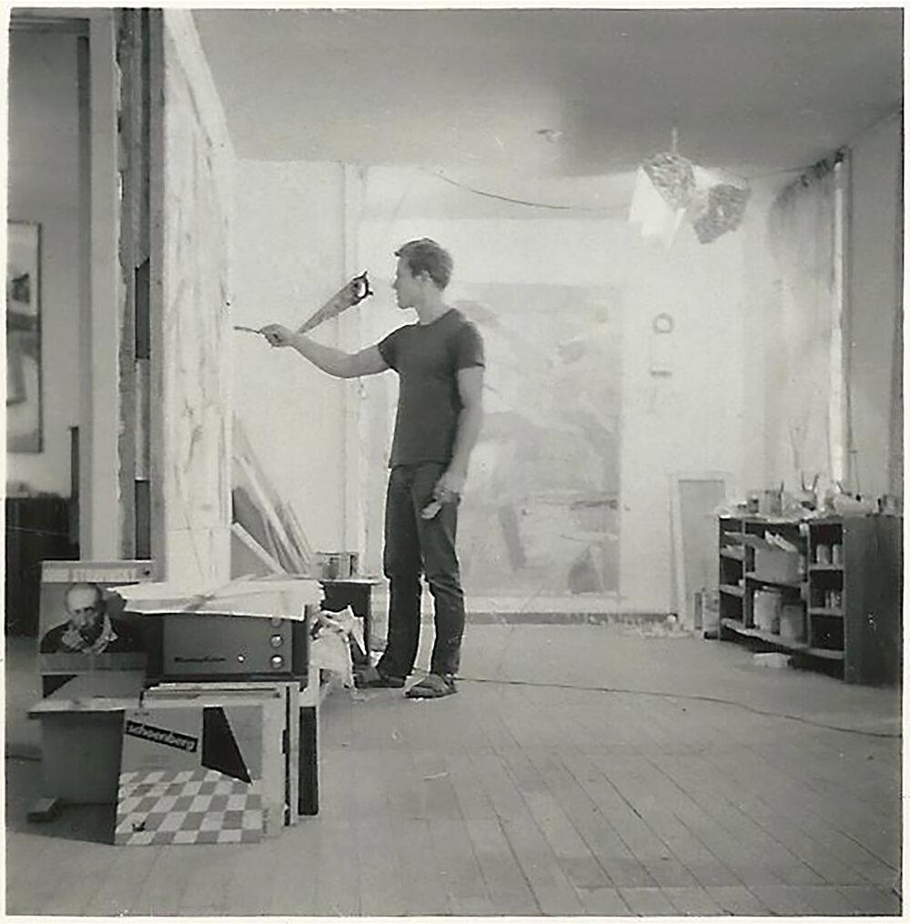 - Gerald van de Wiele at Black Mountain College, 1956Photo: Tom Field / Van De Wiele Archive, New York