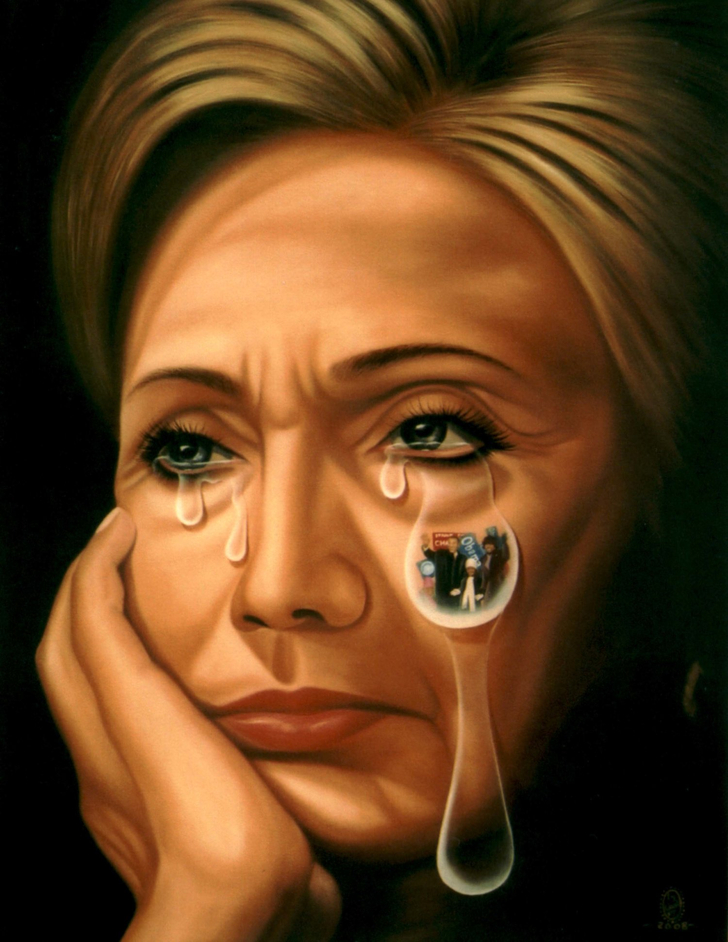 Political Tears Hillary