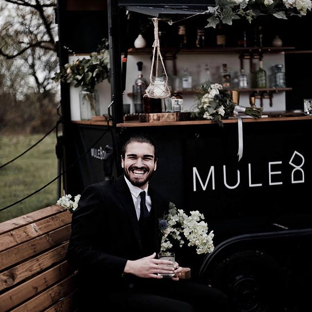 Smiles all round! @jm_romero25 thoroughly enjoying his G&T!   Happy Wednesday all! 💛  📸 by @st.udiophotography.uk  Styling by @laurenfrancisbridal  Flowers by @jojosflowerworkshop  Props and silk flowers by @winterborne_vintage  Venue @backofbeyondtouringpark 
