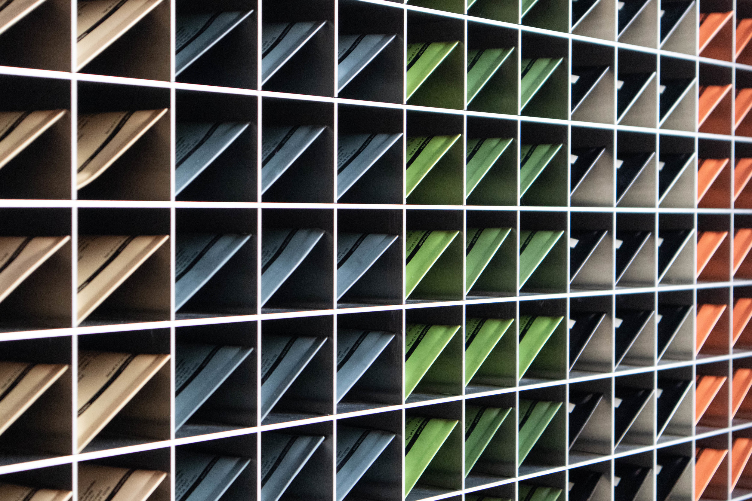 - Repetition of Aesop's own products create rhythm and beautiful patterns...