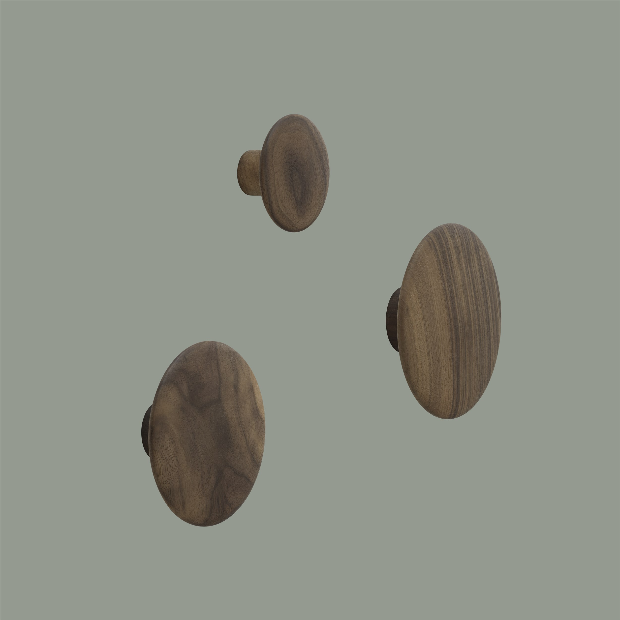 The dots, now in walnut