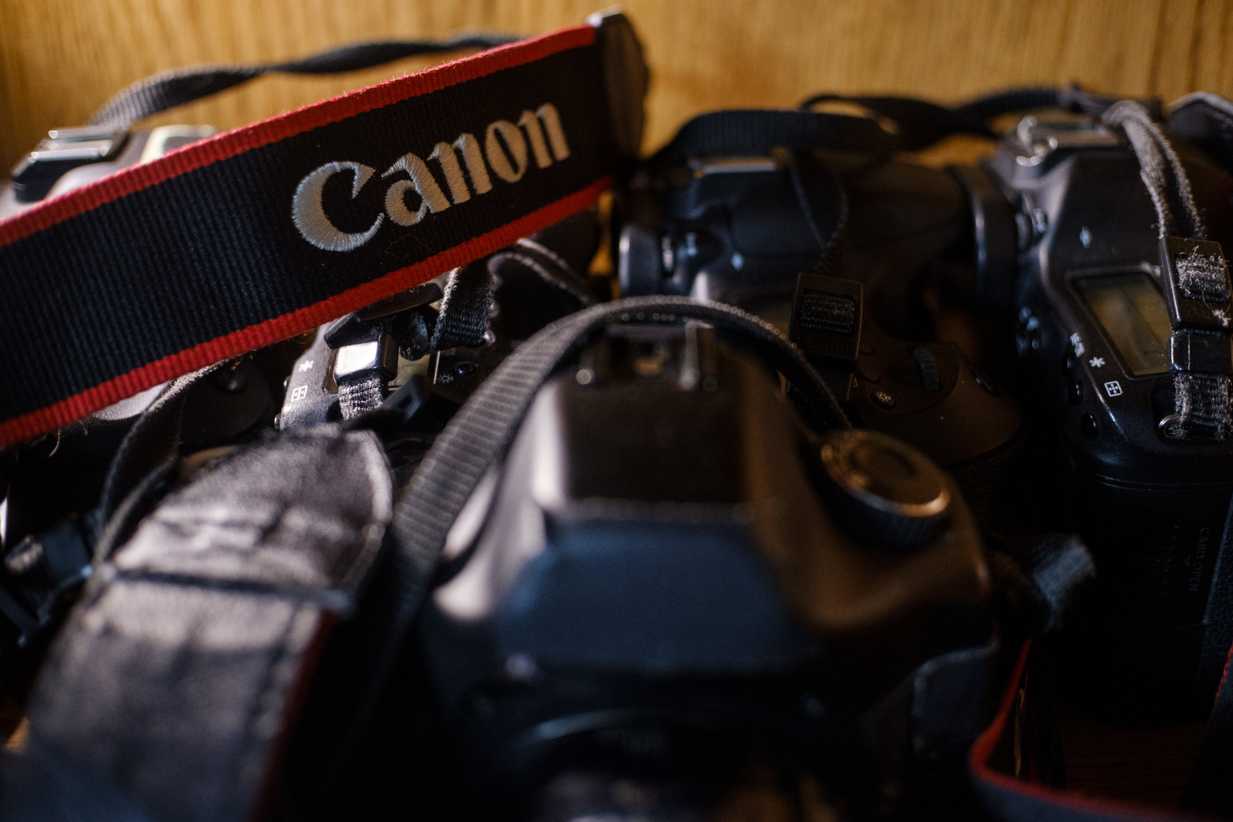 A selection of Canon DSLR cameras imaged with a FUJI XT20