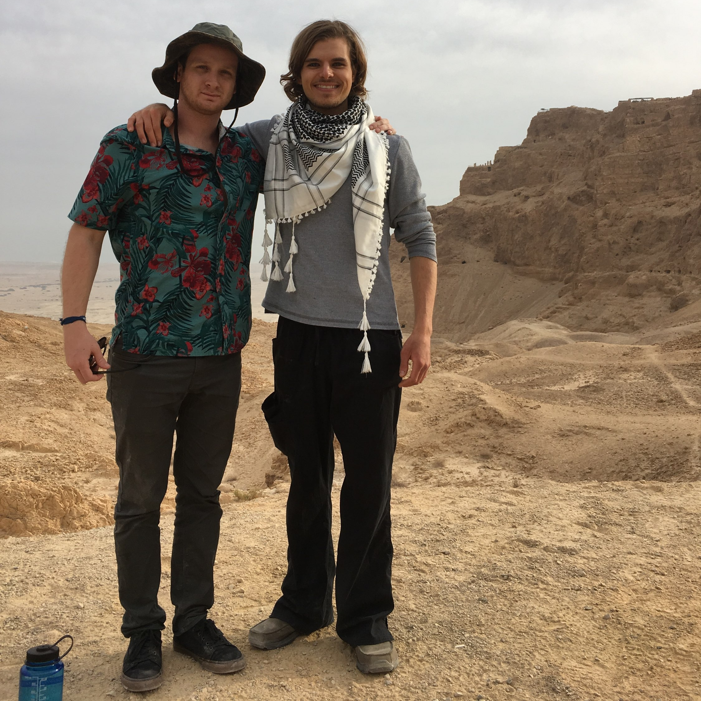 dec. 2017: My cousin jayson and i right before our hike up to masada, israel