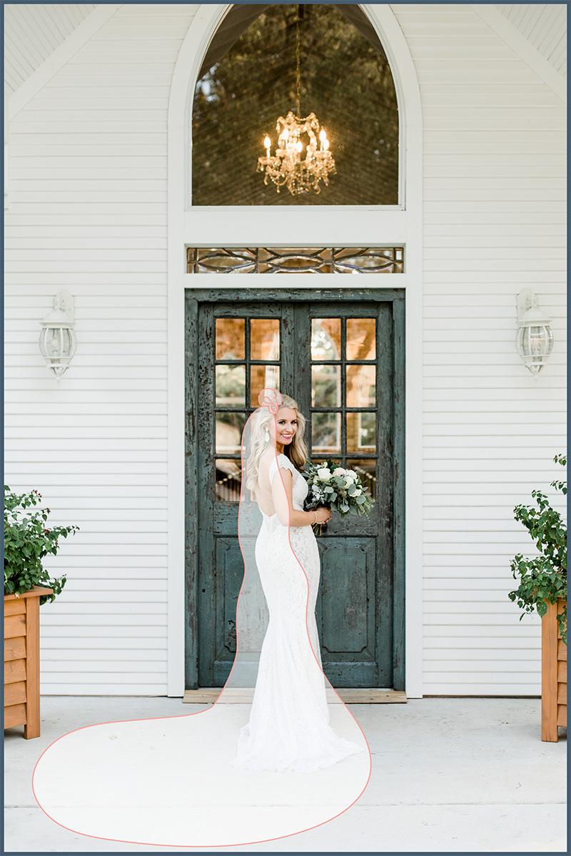 Elegant cathedral veil