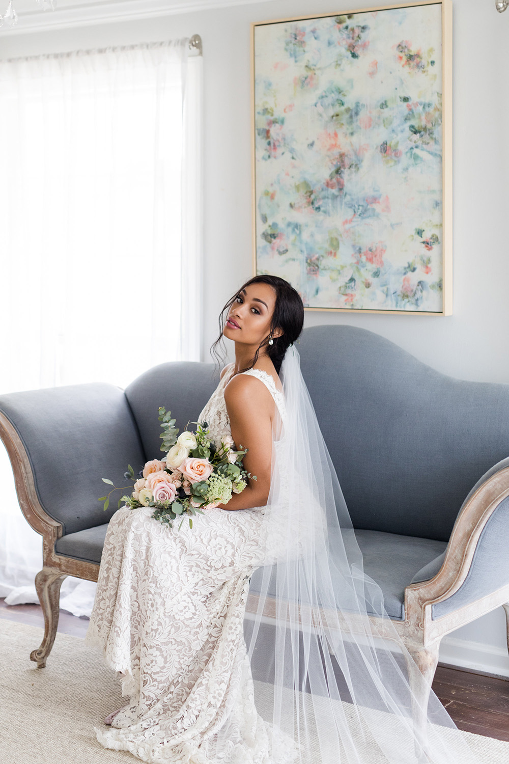 Sophia cascading cathedral veil