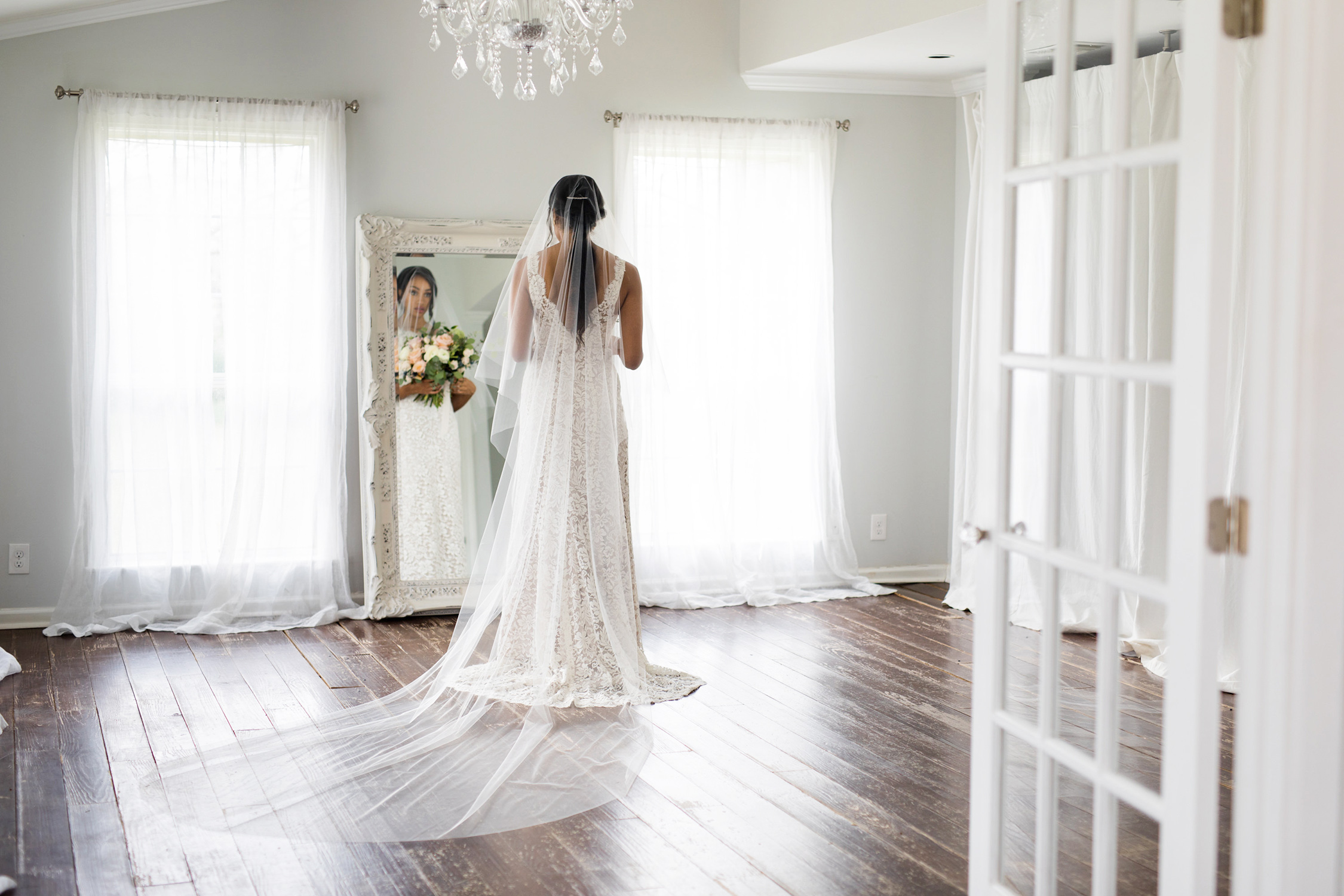 Extra Long Cathedral Length Wedding Veil | Petal & Veil