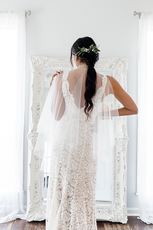 Charlotte | Fingertip Veil with Blusher from our Classic Collection, $115