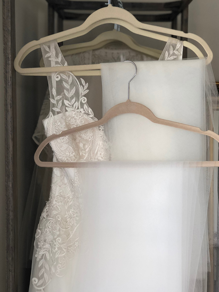 White Gown with Ivory Detail