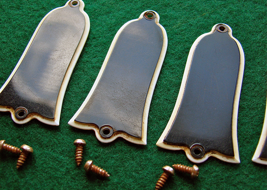 1959 TRUSS ROD COVER  1959 style two ply TRC, correct material, cut and bevel. These come aged and include two period correct mounting screws. They receive extensive hand finishing and are as close to the real deal as possible.  £70