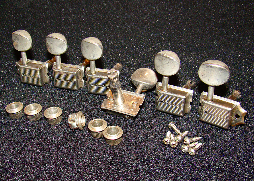 FENDER KLUSON TUNERS  Vintage Haven have a large collection of genuine Fender Kluson tuners including, 'no lines', 'single lines' and 'double lines' and can include sets of original mounting screws and bushings. Prices depend on condition. They are all in excellent working order. Again, let us know exactly what you require and we will try to help. See examples by clicking learn more below.   Price: POA